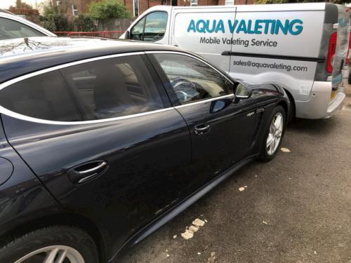 Clean Car with Aquavaleting Van