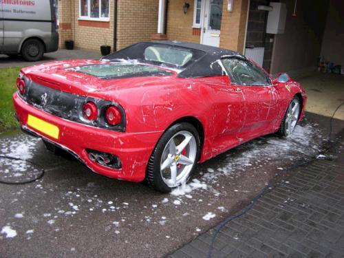 Ferrari Getting Cleaned