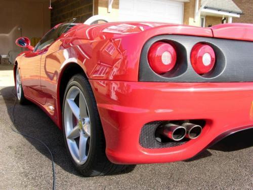 Ferrari Rear End Clean
